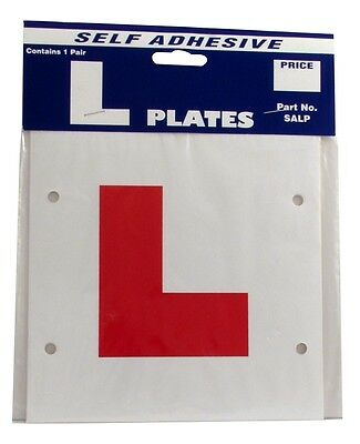 L Plates Learner Driver - Self Adhesive Sticker - Pair Legal Exterior NEW CASTLE