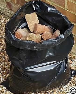 100 x BLACK RUBBLE BAGS/SACKS BUILDERS EXTRA HEAVY DUTY
