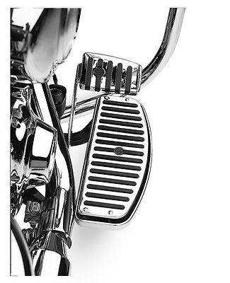 HD Harley Davidson Chrome & Rubber Fahrer Trittbretter Einlagen 50176-95