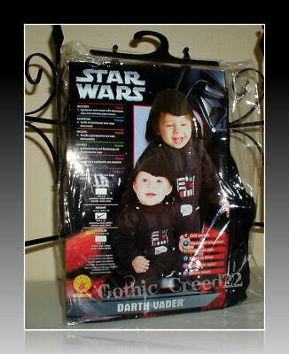 NEW Star Wars Darth Vader Baby/Toddler Halloween Costume/Sleeper 6-12 Months!