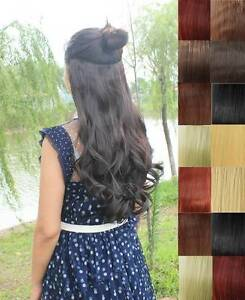 20-22-Full-Head-Clip-in-Hair-Extensions-Wavy-Curly-Straight-NOT-Human-Hair