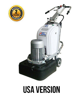 Asl T1 Concrete Grinding Polishing Machine 220v 1 Or 3 Phase 10hp Usa Version