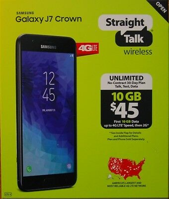 Straight Talk Samsung Galaxy J7 Crown 4G LTE Prepaid Cell Phone Brand New