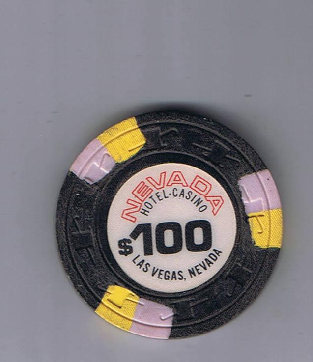 Nevada Hotel $100.00 Casino Chip Las Vegas Nevada
