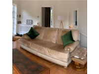 Real leather three seat sofa