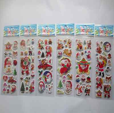 5 sheets Christmas Stickers for Kids Xmas Craft Gift Card-Making Home Decoration ()