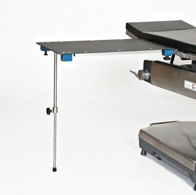 Rectangle Phenolic Arm Hand Surgery Table With Single Post Leg 18w X 32l