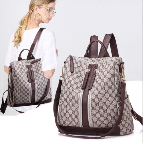 Damen Rucksack Leder Damentasche Handtasche Braun Tote Übergröße Schultertasche