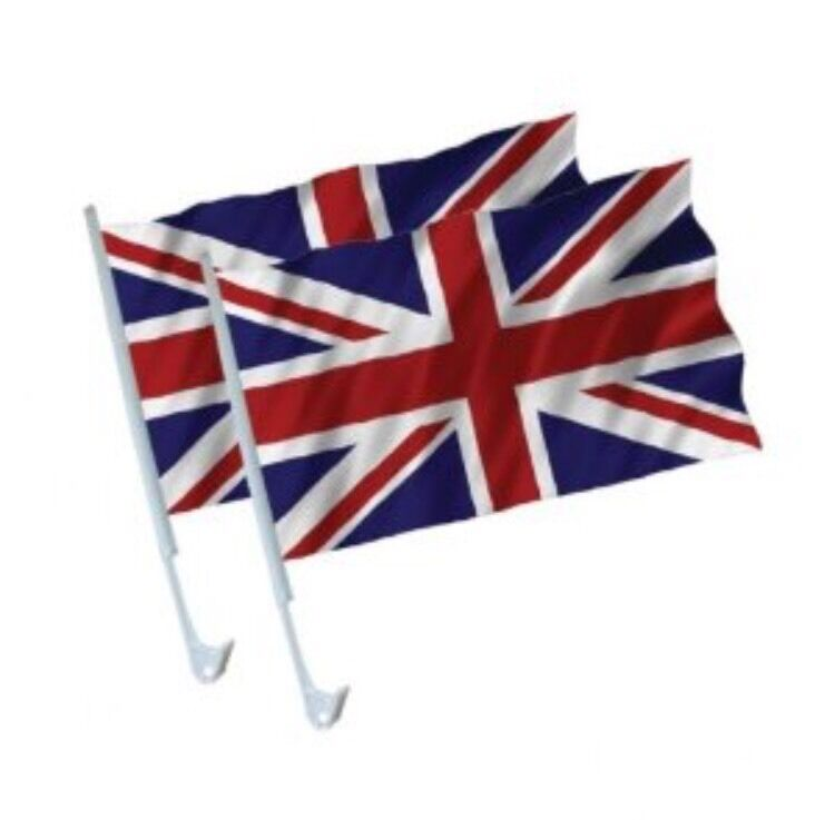 Union Jack Car Flags Pack Of 2 / Buy One Pack Get Another Pack FREE Brand NEW