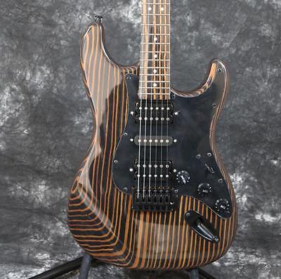Big Headstock Strat Electric Guitar Technical Wood Tremolo Bridge Black Hardware