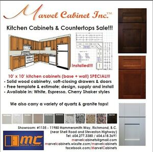 ⎷⎛Kitchen Cabinets & Countertops SALE – 10' x 10' Kitchen Packag