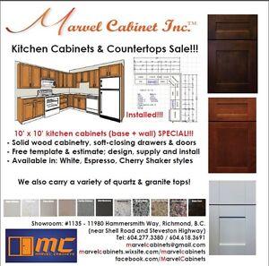 ⎷⎛Kitchen Cabinets & Countertops SALE – 10' x 10' Kitchen Packag