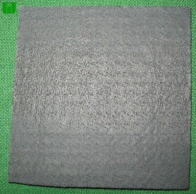 "Graphite Carbon Felt Glass Blowing 1/4"" x 5"" x 5"" Pad"