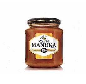 Rowse 15+ Manuka honey brand new many in stock