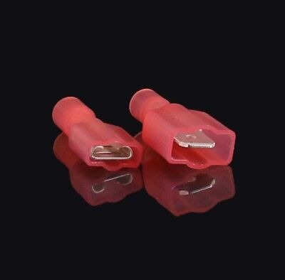 100 Pack 22-18 Awg Male Female Fully Insulated Nylon Quick Disconnect .250 Ul