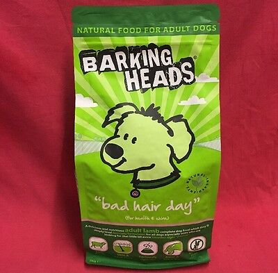 Barking Heads Dog Food Bad Hair Day 2kg 51% Lamb Adult Health Shrine Gluten Free