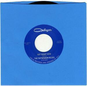 OUTSPOKEN-BLUES-Not-Right-Now-Swiss-vinyl-7-NEW-Orlyn-Yardbirds-garage-punk