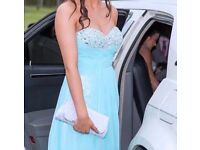 Light blue prom dress. Would fit size 6/8