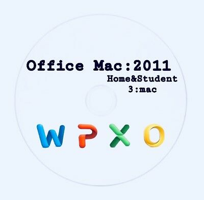 OFFICE MAC 2011 SOFTWARE FOR MICROSOFT OS X WORD,EXCEL POWER POINT OUTLOOK 3MAC