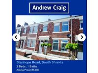 *TO LET* spacious 2 bedroom upstairs flat to rent, South Shields.