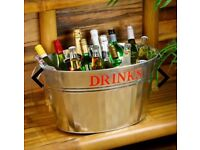 Large galvanised steel drinks tub perfect for keeping your favourite beer/Cider etc cold