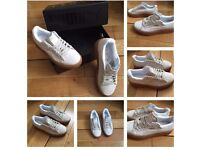 Rihanna Fenty Creepers White/Oat Trainers Sneakers Shoes Footwear Girls Female Women Size 4