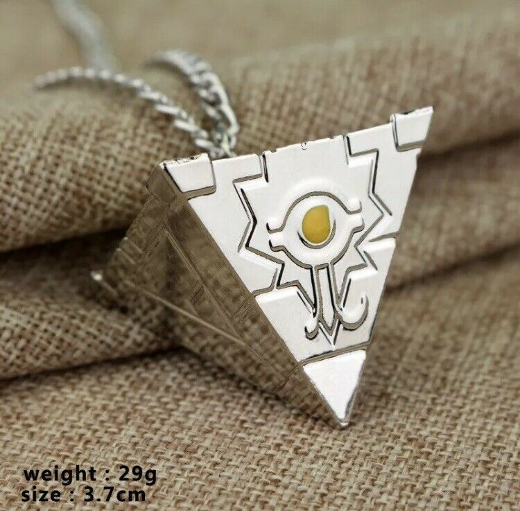 """Yu-Gi-Oh Millennium Puzzle Artifact Necklace 1"""" Anime Silver US Seller"""