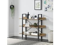 Modern contemporary design bookcase with 3 shelves