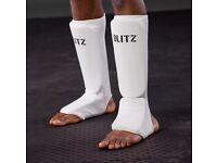 BLITZ slip on shin guards Size XS