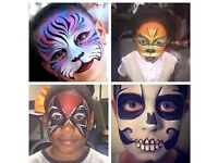 Fun and loving freelance face & body painter for kids birthdays and similar events based in London