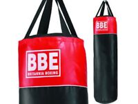 BBE Britannia Boxing Punch Bag 4ft with durable hanging strips