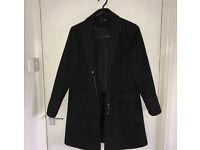 Black Topshop coat