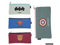 Job Lot Superhero Pencil Cases x50