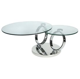 Round Glass Coffee Table - Magic (RRP) £700