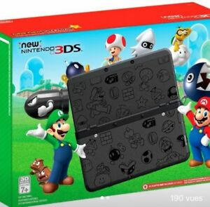 3ds black éditions super mario