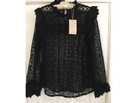 Black Lace Monsoon Blouse