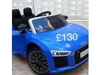 Licensed Audi R8 compact ride on car with remote control music and lights (leeds) only £130