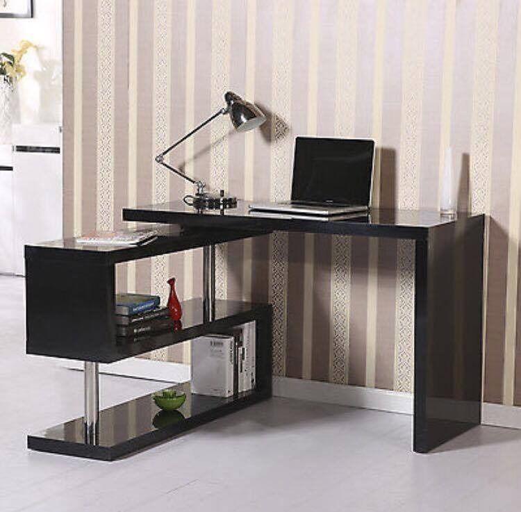 Homcom L Shape Black Corner Pc Desk