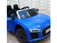 Licensed 12v Audi R8 compact ride on car with remote control music and lights (leeds) only £130