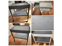 Old Smuggler shabby chick dining trolley/bar on wheels with hidden drawer
