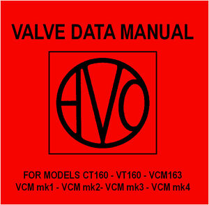 Avo Valve Data Manual - CD - CT VT VCM Characteristics Meter Tube Tester 160 163