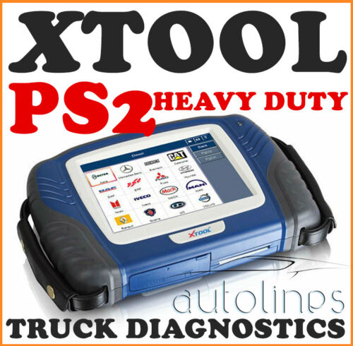 XTOOL PS2 HD 24V Heavy Duty Full System Truck Diesel Diagnostic Scanner Tool
