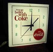 Vintage Lighted Coke Clock