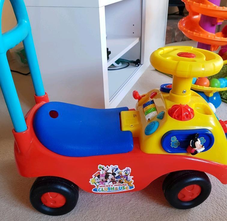 Disney Mickey Mouse Club House Musical Gears Activity Ride On Car ...