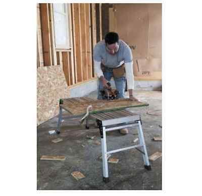 Folding Aluminum Work Platform Portable Stool Bench Step Ladder Werner Pro Deck