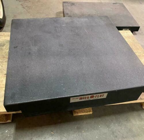 """Collins MICROFLAT Precision Granite Surface Inspection Plate 24"""" x 24"""" x 4"""""""