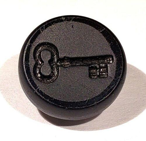 Antique Black Glass Button…KEY