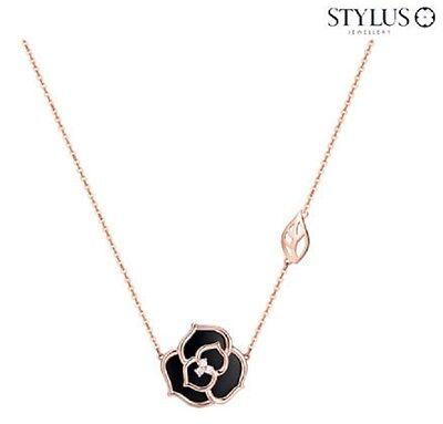 Stylus) Happy Rose 3(Onyx) 14K Necklace 231600037 14K Pink Gold 3.2g