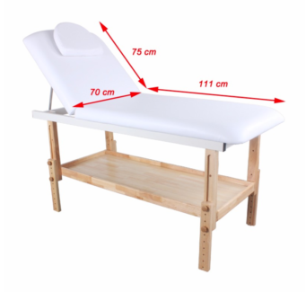 Manual Bed Table Chair Massage Salon Spa Treatment Timber White