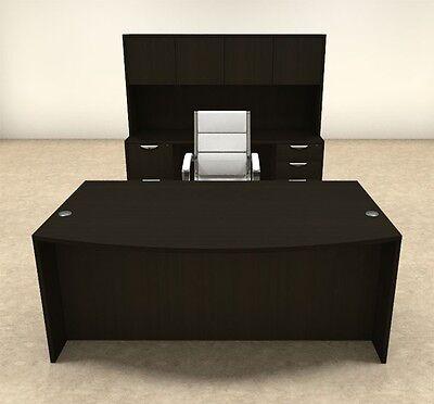 6pc Fan Front Modern Executive Office Desk Set Ot-sul-d8